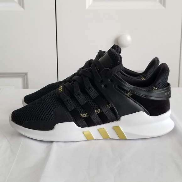 super popular fce01 066d9 Womens Adidas EQT Support ADV Black Gold